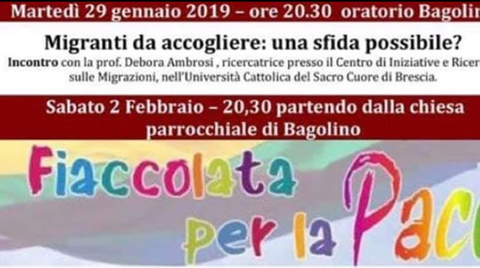 Fiaccolata per la Pace a Bagolino