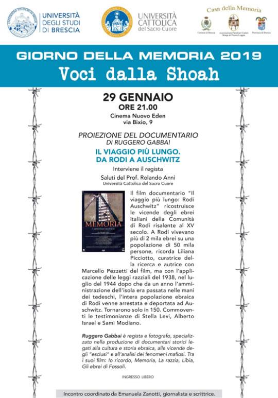 Giorno della Memoria a Brescia