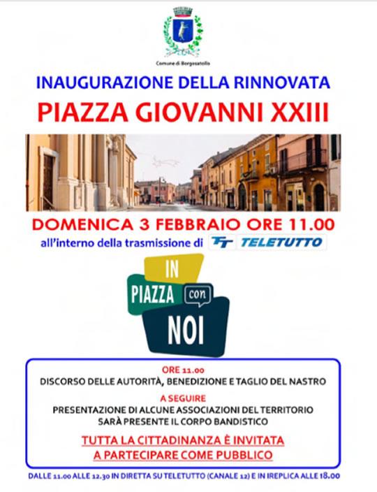 Inaugurazione Piazza Giovanni XXIII a Borgosatollo