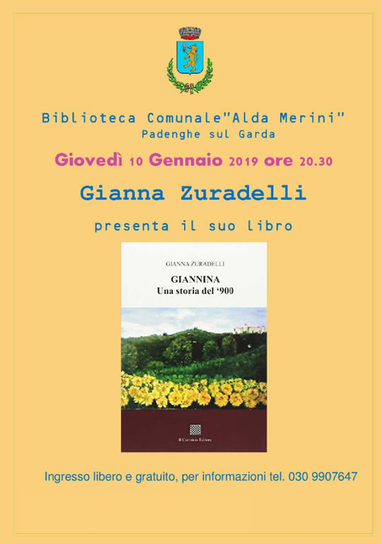 Incontro con l'autrice Gianna Zuradelli a Padenghe