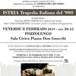 Istria Tragedia Italiana a Pozzolengo