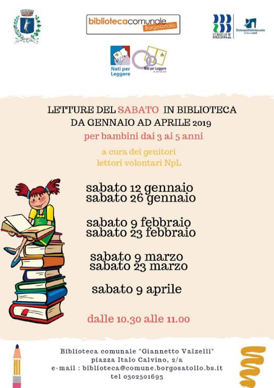 Letture del Sabato in Biblioteca a Borgosatollo