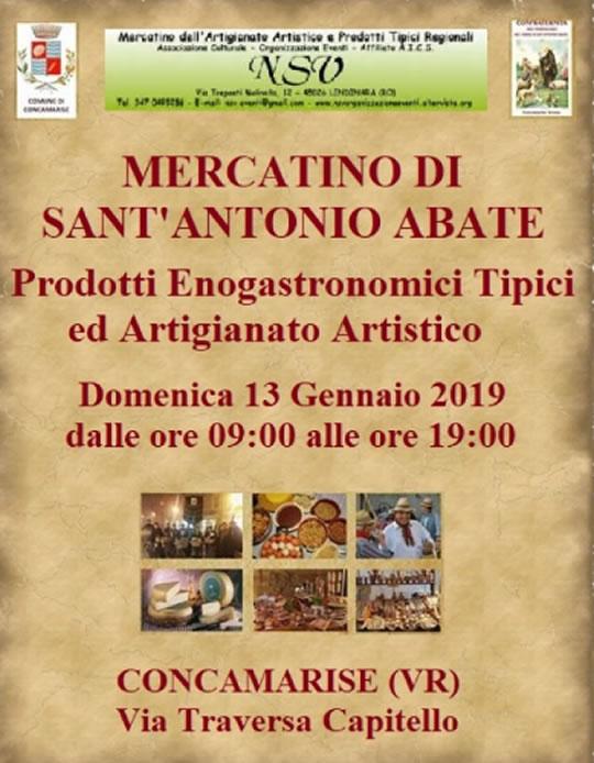 Mercatino di Sant'Antonio Abate a Concamarise VR