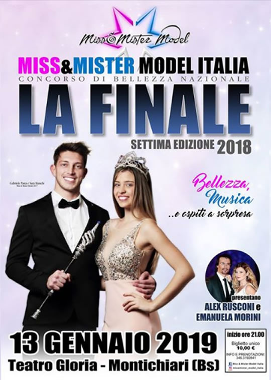 Miss e Mister Model Italia a Montichiari