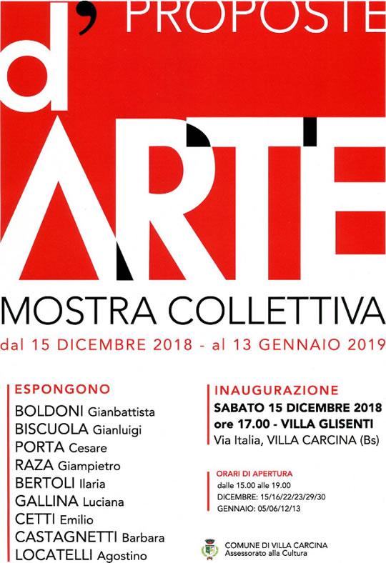 Mostra Collettiva a Villa Carcina