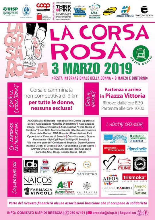 Corsa Rosa 2019 a Brescia