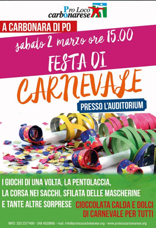 Festa di Carnevale a Carbonara Po MN