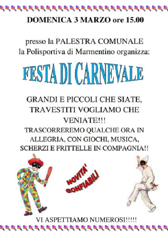 Festa di Carnevale a Marmentino