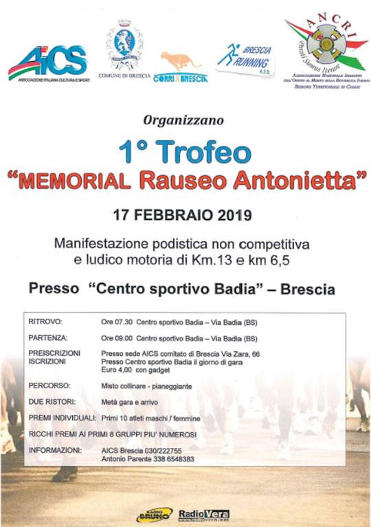 Memorial Rauseo Antonietta a Brescia