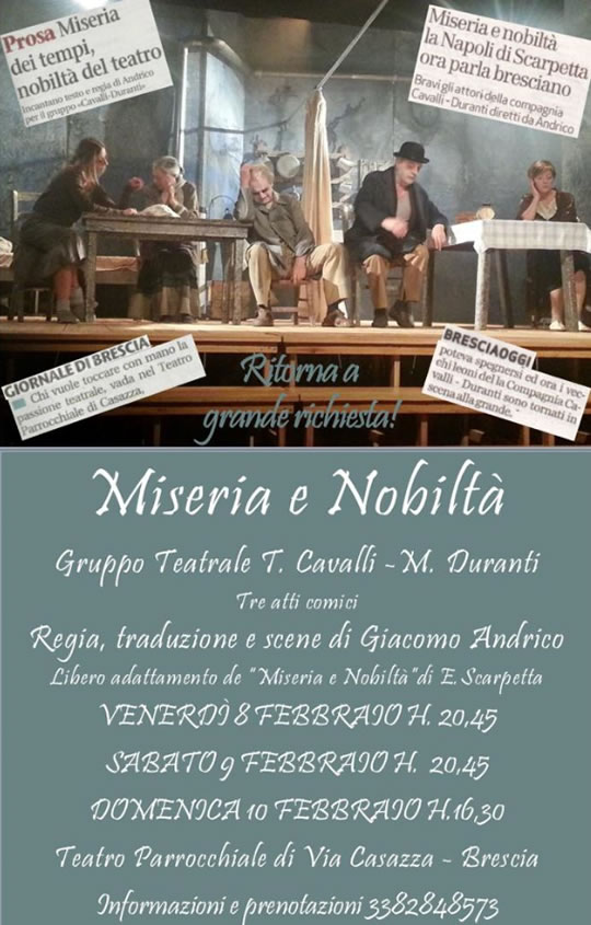 Miseria e Nobiltà a Brescia