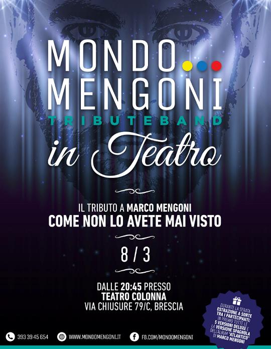 Mondo Mengoni in teatro a Brescia