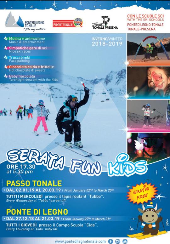 Serata Fun Kids a Passo Tonale e Ponte di Legno
