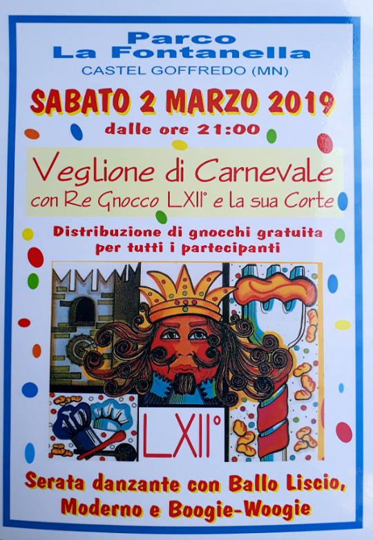 Veglione di Carnevale con Re Gnocco a Castel Goffredo MN