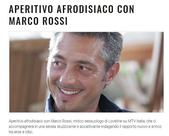 Aperitivo Afrodisiaco con Marco Rossi a Padernello