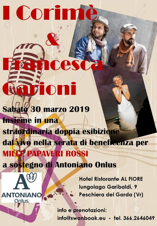 Corimè in concerto a Mille Papaveri Rossi Peschiera del Garda VR