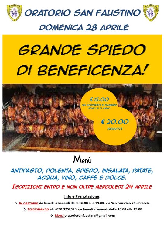 Grande Spiedo di Beneficenza a Brescia