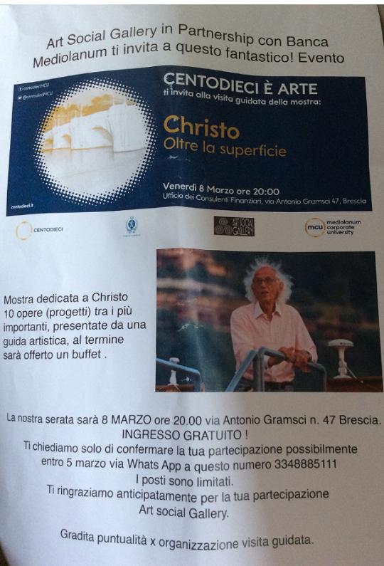 Mostra Christo oltre la superficie a Brescia