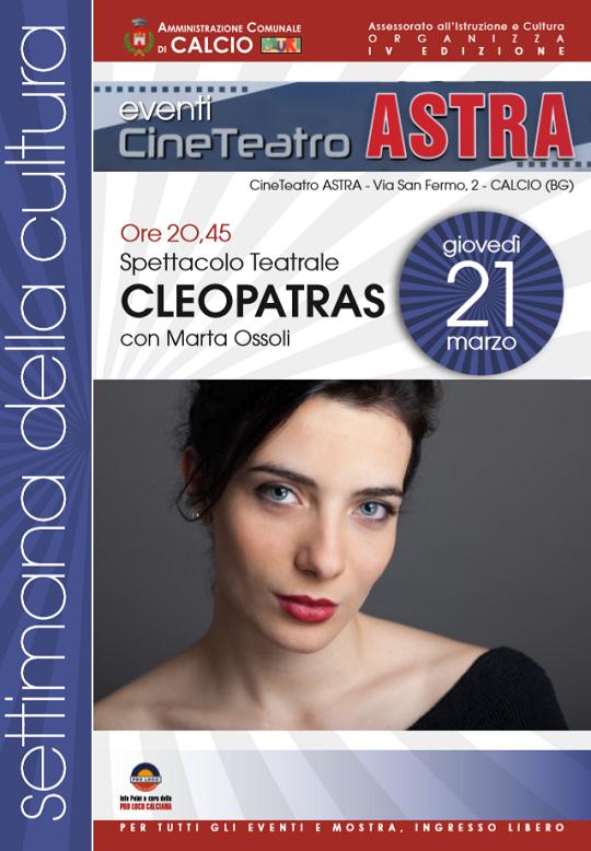 Spettacolo Teatrale Cleopatras a Calcio (Bg)