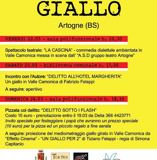 Week end in Giallo ad Artogne