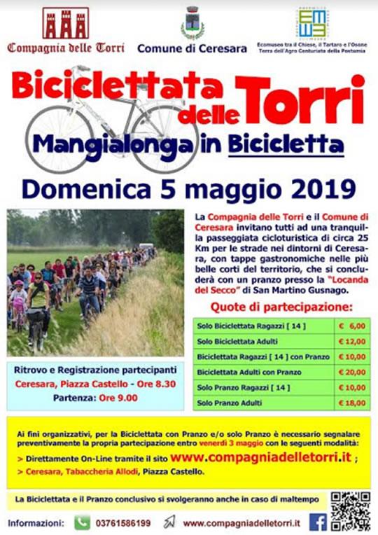 Biciclettata delle Torri - Mangialonga in Bicicletta a Ceresara MN
