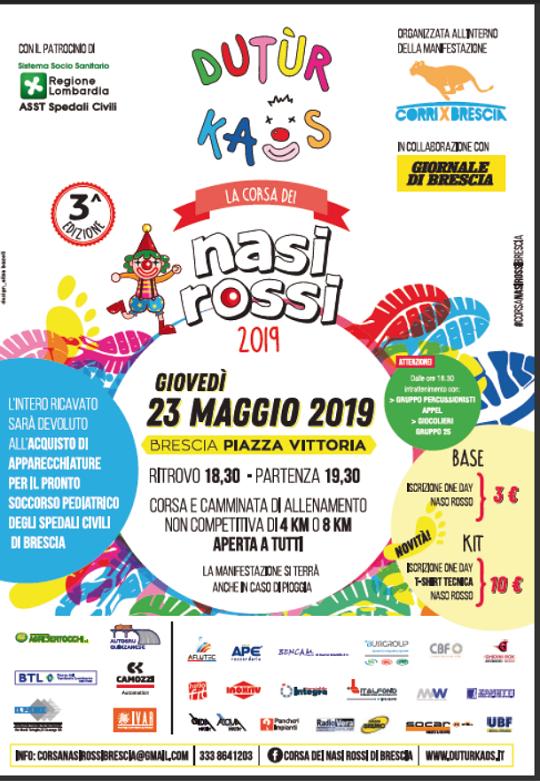 Corsa dei nasi rossi a Brescia