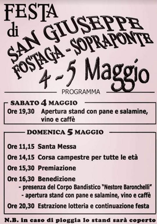 Festa di San Giuseppe Fostaga a Gavardo