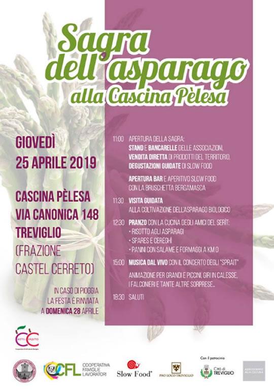 Sagra dell'Asparago alla Cascina Pèlesa di Treviglio BG