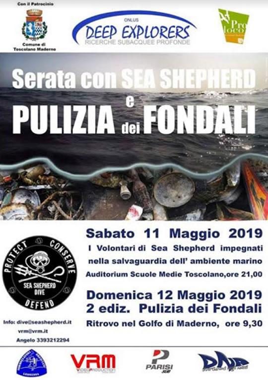 Sea Shepherd - Conferenza e pulizia lago a Toscolano Maderno