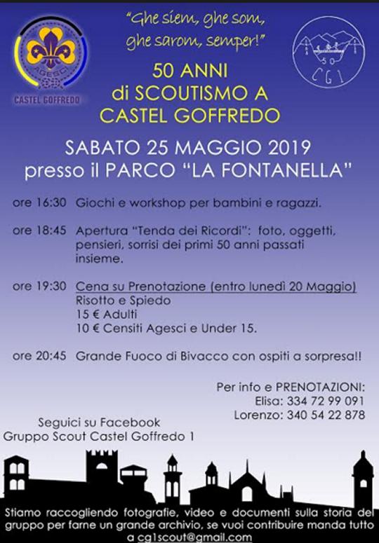 50 anni di Scoutismo a Castel Goffredo MN