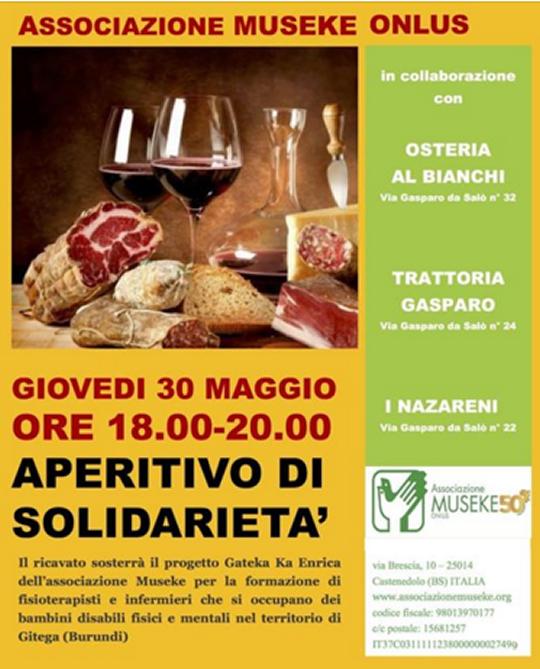 Aperitivo di Solidarietà a Brescia