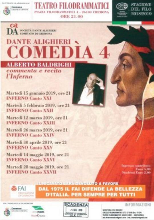 Dante Alighieri Comedìa a Cremona