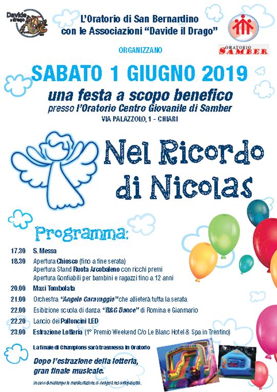 Festa Nel Ricordo di Nicolas a Chiari
