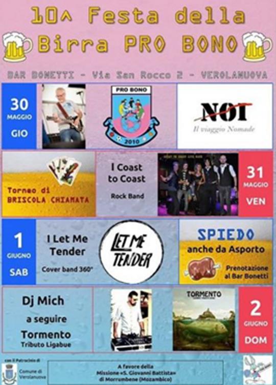 Festa della Birra Pro Bono a Verolanuova