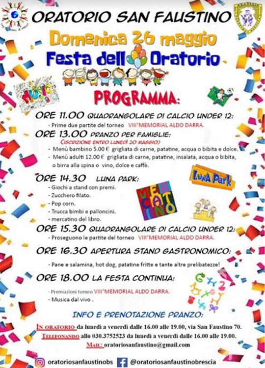 Festa dell'oratorio a Brescia