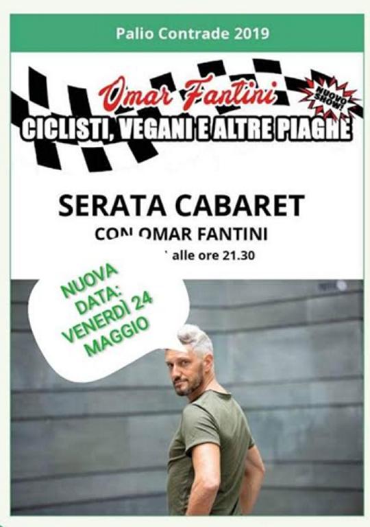 Serata cabaret di Omar Fantini a Erbusco