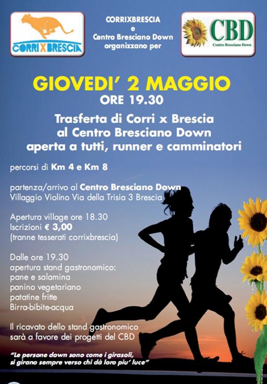 Trasferta di Corri x Brescia al Centro Down Bresciano