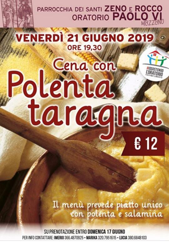 Cena con Polenta Taragna a Mazzano