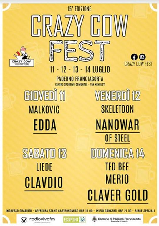 Crazy Cow Fest a Rodengo Saiano