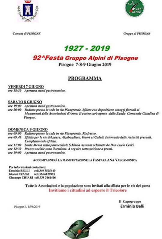 Festa Gruppo Alpini Pisogne