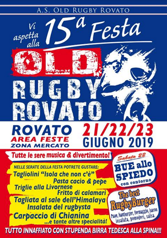 Festa Old Rugby Rovato
