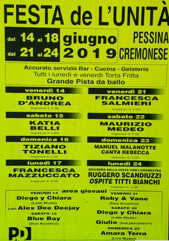 Festa de l'Unità a Pessina Cremonese
