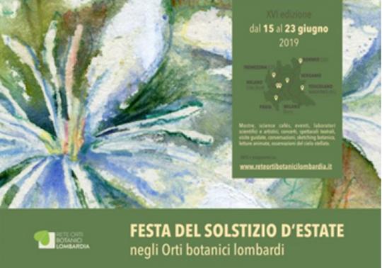 Festa del Solstizio d'Estate negli Orti Botanici Lombardi