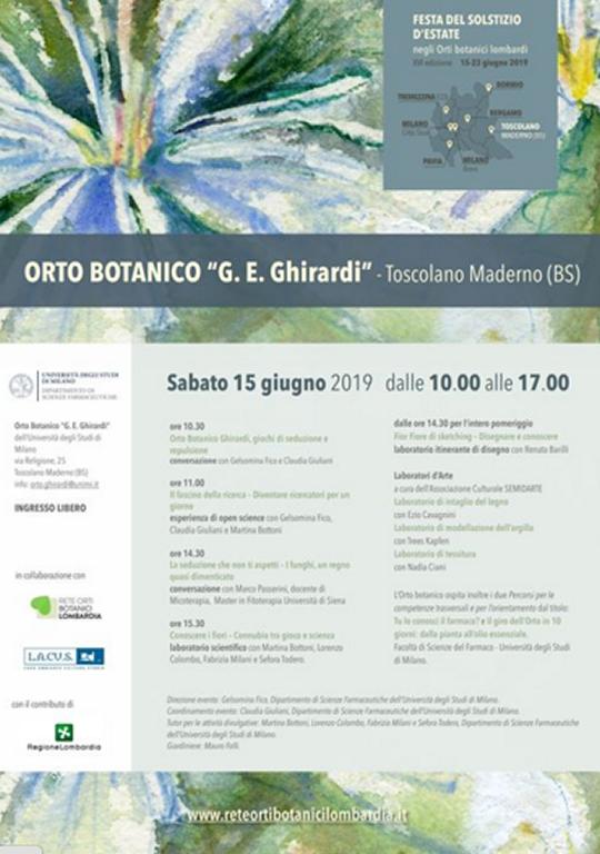 Festa del Solstizio d'Estate nell'Orto Botanico a Toscolano Maderno