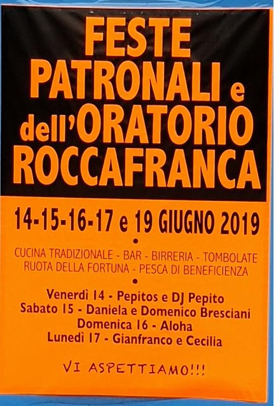 Feste Patronali dell'Oratorio di Roccafranca