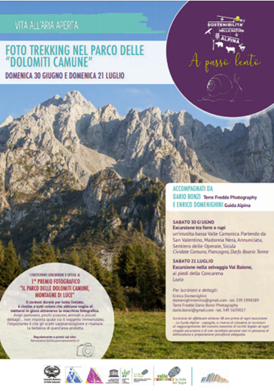 "Foto trekking nel parco delle ""Dolomiti Camune"""