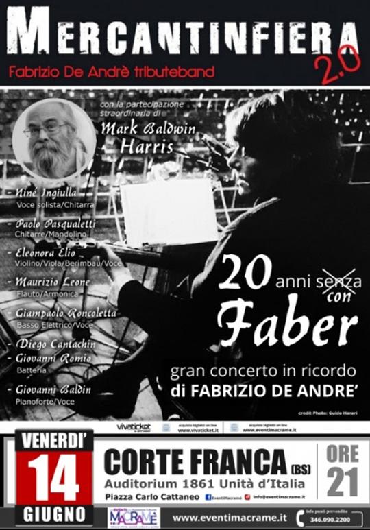 Gran concerto in ricordo di Fabrizio De Andrè a Corte Franca