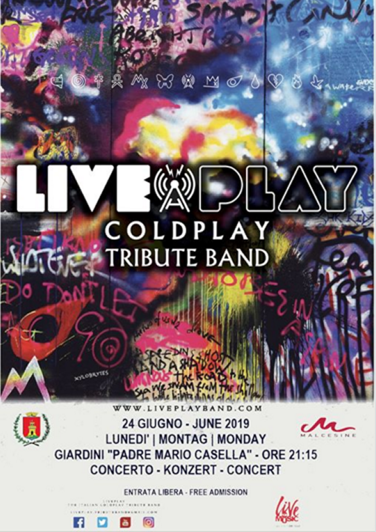 Live Play Coldplay Tribute Band a Malcesine