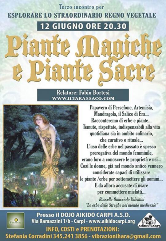 Piante Magiche e Piante Sacre a Carpi
