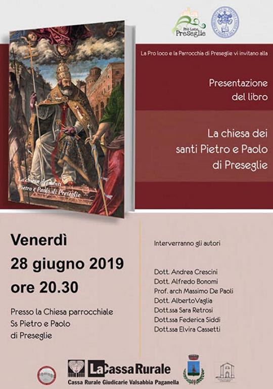 Presentazione del libro La chiesa dei santi Pietro e Paolo di Preseglie
