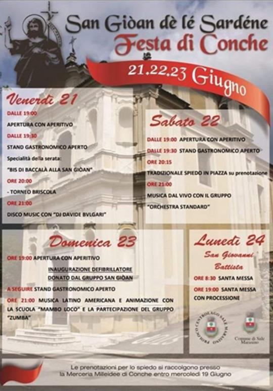San Giòan dé lè Sardéne Festa du Conche a Sale Marasino